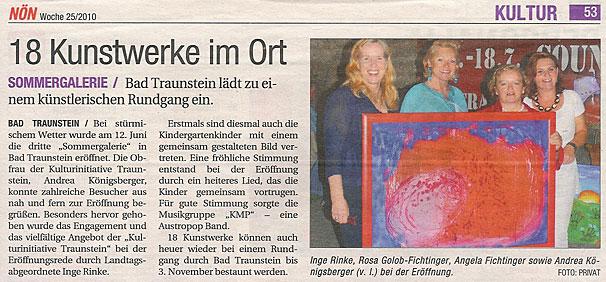 Bericht der NÖN - Woche 25/2010